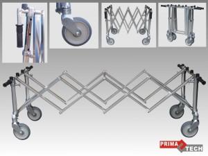 vozík stříbrný